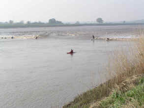 Surfing the severn bore